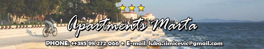 Apartmani Marta – Zadar | Apartments Marta Zadar